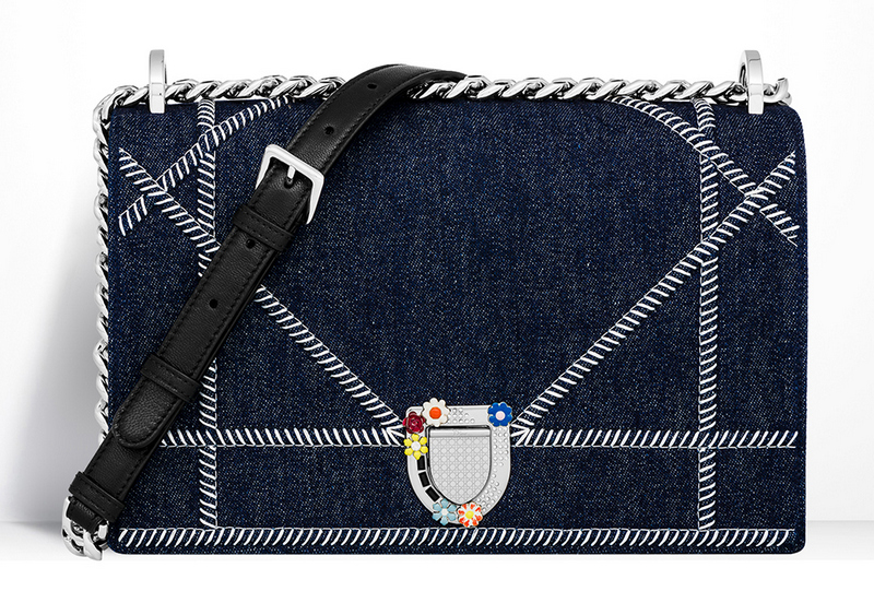Christian-Dior-Diorama-Bag-Denim-Floral