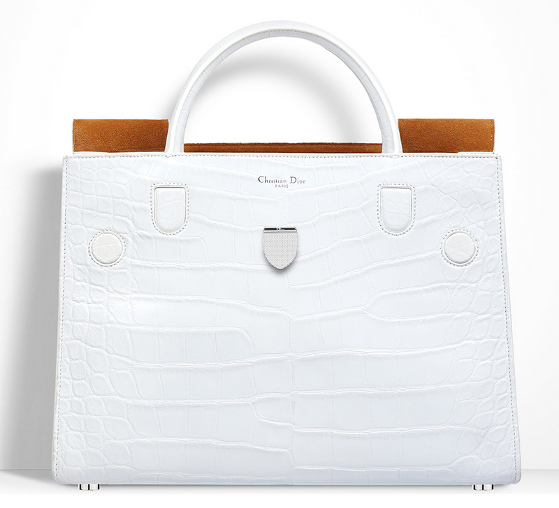 Christian-Dior-Diorever-Alligator-Bag-White