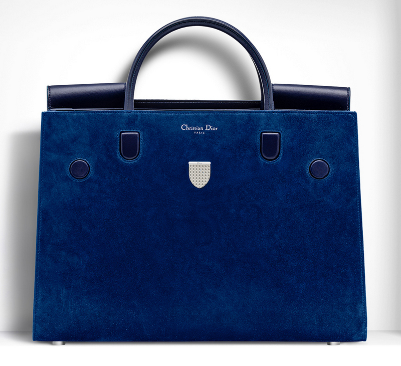 Christian-Dior-Large-Diorever-Bag-Blue-Suede