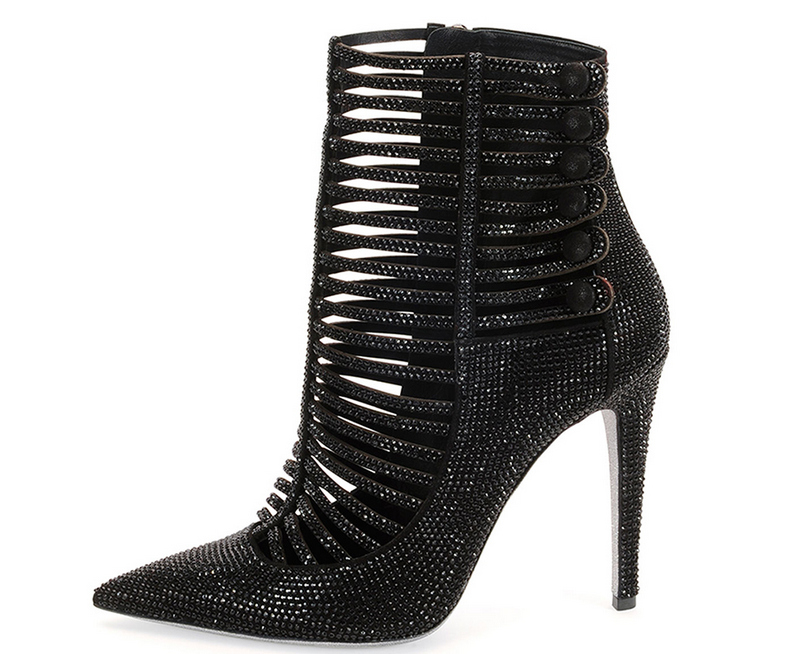 Rene-Caovilla-Strass-Caged-High-Heel-Booties