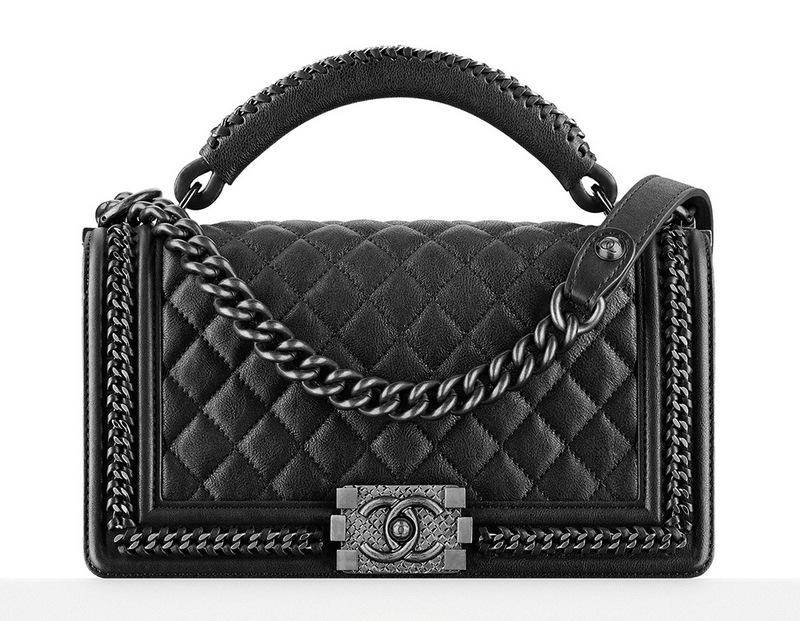 Chanel-Boy-Bag-With-Handle-Black-5300