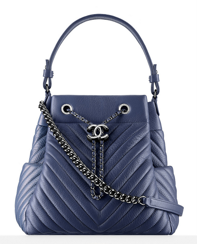 Chanel-Chevron-Drawstring-Bag-Blue-3400