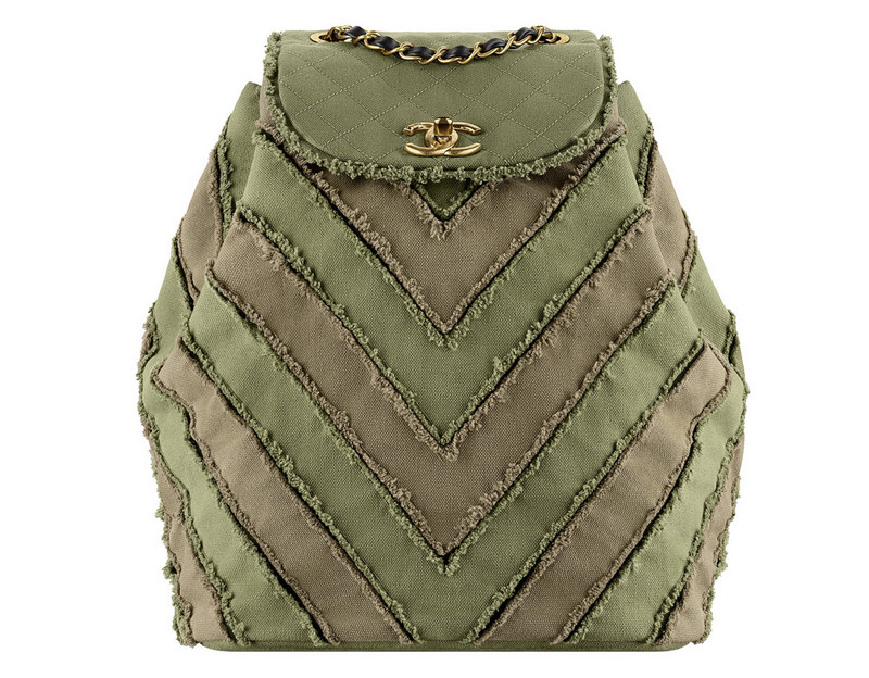 Chanel-Cuba-Khaki-patchwork-toile-backpack