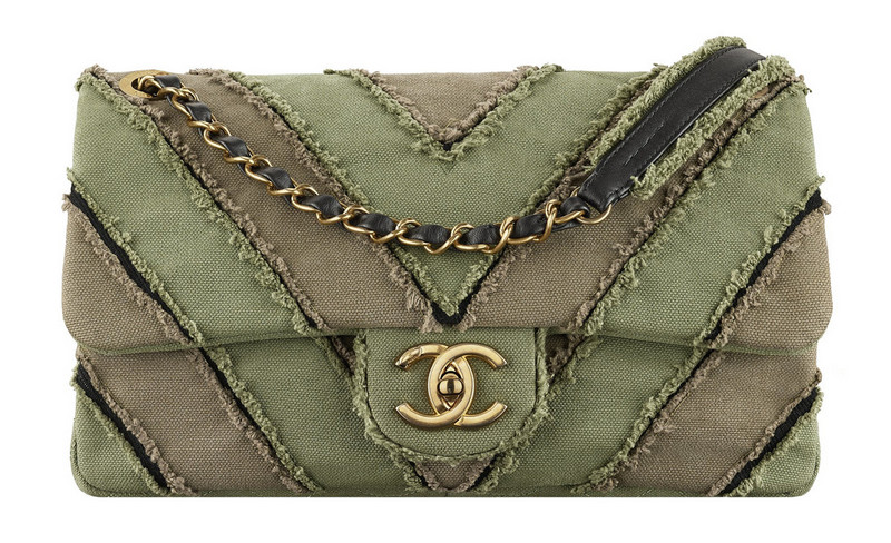Chanel-Cuba-Khaki-patchwork-toile-bag-with-a-CC-lock