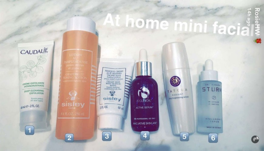 rosie-huntionton-whiteley-beauty-routine