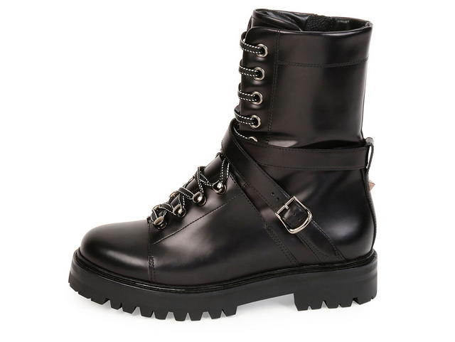Valentino-Rockstud-Leather-Combat-Boot